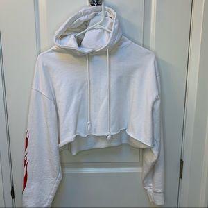 Brandy Melville flames cropped hoodie